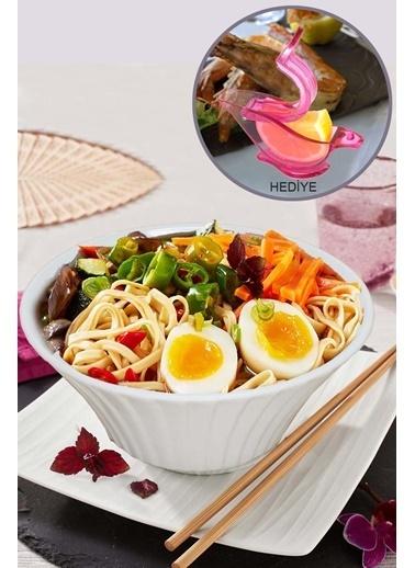 Kitchen Love Limon Sıkacak Hediyeli+Seramik  Salata Kase-Beyaz Beyaz